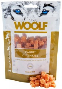 Woolf Rabbit Chunkies - kwadraciki z królika (100g)